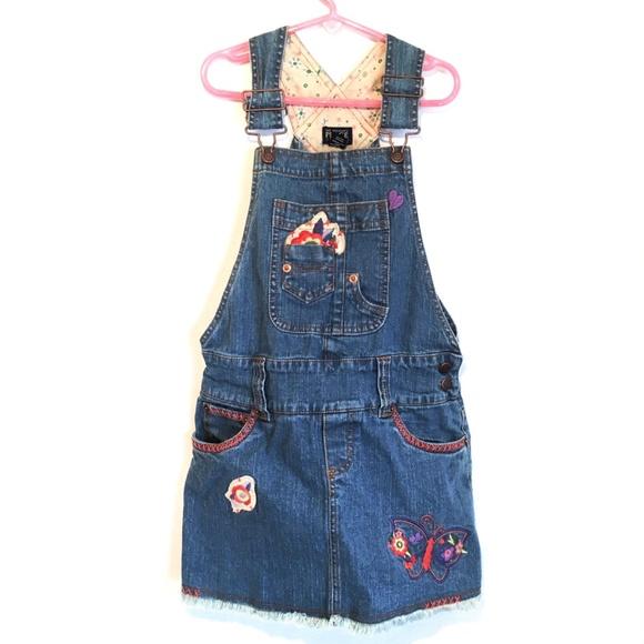 Children's Place Other - Children's Place Denim Overall Jumper Dress 8